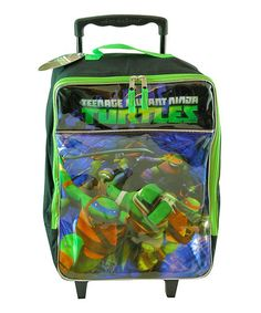 Love this TMNT Rolling Luggage on #zulily! #zulilyfinds