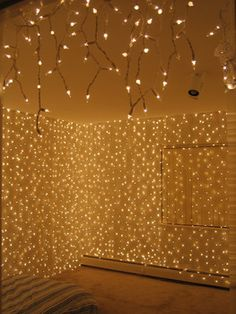 Christmas lights can be added to just about any bedroom in your home to create a magical and cozy ambiance.