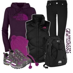 """""""The North Face"""" by candy420kisses on Polyvore #winterhikingclothes"""