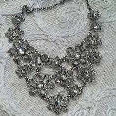 Beautiful bedazzled flower necklace #beekeeperscottage #luckettsva