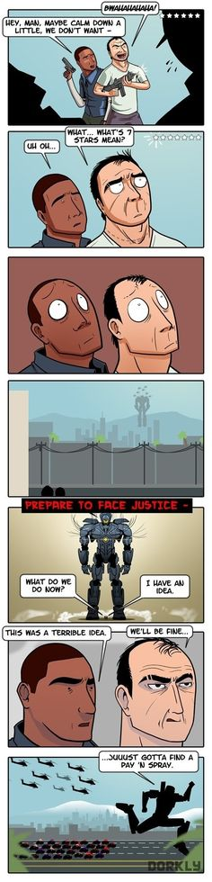 GTA's Most Wanted - Franklin and Trevor meets Pacific Rim.