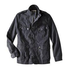 Cotton cargo jacket in coastal gray