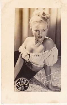 """Pre-Signed 2.5""""x4"""" glossy photo of Peggy Lee. Very Fine to Good condition with…"""