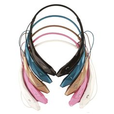 Enhanced Audio and Bass Response Compatible with majority of smartphones or tablets with Bluetooth function Comfortable & Noise Cancellation, unique wearing style, memory alloy flexible neckband Can c