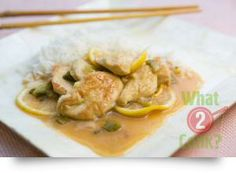 Lemon & Ginger Chicken, steamed rice: A subtle blend of Asian flavours Crockpot Recipes, Chicken Recipes, Cooking Recipes, Ginger Chicken, Asian Recipes, Ethnic Recipes, Steamed Rice, How To Cook Chicken, Curry
