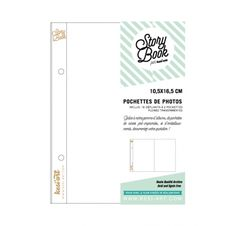 Pochettes dépliantes transparentes 10x16 cm 'Kesi'Art - Story Book' Qté 10