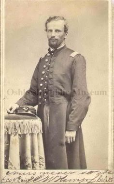 Photograph of Charles Kempf, 5th Wisconsin Volunteern Infantry, in Civil War uniform, ca. 1862-1864.  (Oshkosh Public Museum)