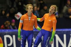 Dutch speed skating medalists, Michel and Ronald Mulder 2014