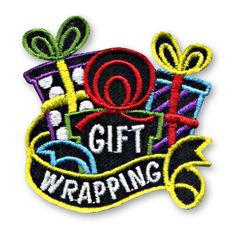 2 x 2 Inches - Snappy application with our FREE Iron-On backing. Our Gift Wrapping fun patch is the perfect way to recognize the children in your youth group or troop who helped out with your Gift Wrapping event or activity. http://www.snappylogos.com/Gift-Wrapping-Fun-Patch/productinfo/3585/