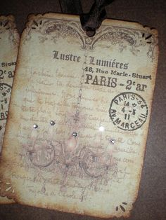 french inspired tags...