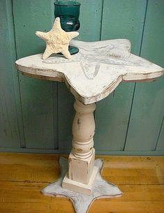 Starfish Side Table | Handmade Decor Ideas For Decorating A Beach House