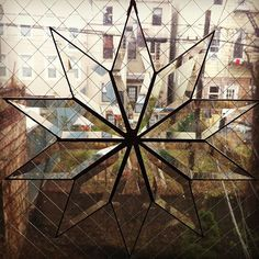 Bevel Starburst by HalonaGlass on Etsy, $75.00. This shop has the coolest stuff.