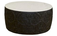 Sydney Marble Coffee Table, Black/White Now: $999.00 Was: $1,695.00