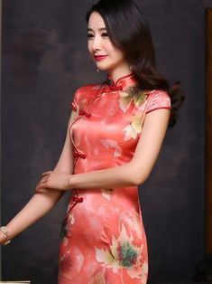 Short Sleeve Dresses, Dresses With Sleeves, Cheongsam Dress, Asian, Culture, Green, Sleeve Dresses, Gowns With Sleeves