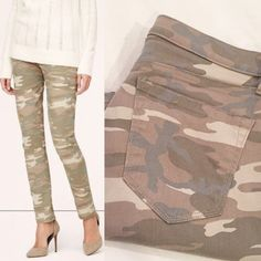 "LOFT camo denim NWOT!  Super comfy and trendy light camo denim from LOFT!  Relaxed skinny cut.  30"" inseam, 8.5"" rise, approx 16"" waist laid flat.   No trades. Reasonable offers welcome Note: 20% off bundles of 2+ items in my closet! LOFT Jeans"