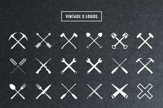 Vintage X Logos by Adrian Pelletier on Creative Market