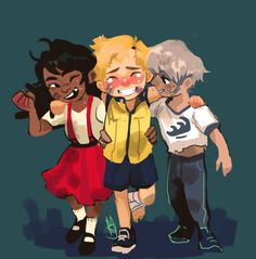 Spark saved them from an aggressive pokemon… After that Candela became more passionate in training. Blanche studied pokemons more to prevent the incident from happening again….