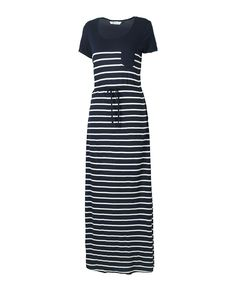 Love black and white stripe cut out maxi dress