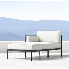 Catalan Left-Arm Chaise ($1,495) ❤ liked on Polyvore featuring home, outdoors, patio furniture, outdoor loungers & day beds, restoration hardware, outdoor furniture, outside patio furniture, outdoors patio furniture and outdoor garden furniture