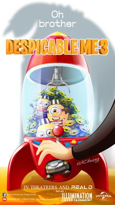 Despicable Me 3#Despicable Me poster#Pierre Coffin#Universal Pictures#Illumination Entertainment#Mel and other Minions#Toy Story#LITTLE GREEN MAN#リトル・グリーン・メン#Alien#3D ANIMATIONS#SUMMER MOVIE#COMICl#cartoon#movie#sketch#illustration#comic#manga#drawing#wallpaper#fan art#by wolf chung#肥仔聰