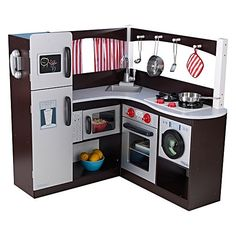 There is nothing that your little one can't achieve in their Grand Espresso Corner Play Kitchen from KidKraft, complete with cooking accessories for fancy little chefs.