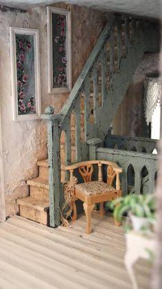 second floor landing - WyckedWood Beacon Hill~The Sea Hag~ - Gallery - The Greenleaf Miniature Community