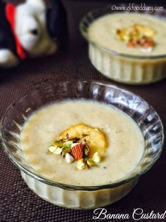 Banana custard recipe for toddlers and kids with step by step pictures - a delicious eggless dessert made with bananas, milk and custard powder. Baby Food Recipes 9 12, Indian Baby Food Recipes, Indian Desserts, Sweet Recipes, Snack Recipes, Dessert Recipes, Quick Dessert, Indian Sweets, Food Baby