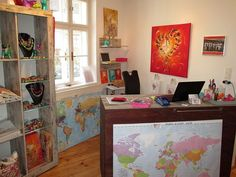 House of colors - handmade Art by Corinna Kirchhof - Artist from Dürnstein at the Danube Wachau Valley Austria - Home Wachau Valley, Handmade Art, Bunt, Austria, Corner Desk, House Ideas, Bedroom, Colors, Artist