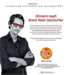 National Geographic kanalının ünlü dizisi Brain Games'in yapımcısı ve sunucusu Jason Silva 6 Kasım 2014'te Brand Week İstanbul'da.