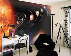 Solar System Wall Mural for the ultimate space room, Connor would love this!!!!