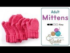 Crochet Hands Full Mittens: Adult Size + Tutorial - The Crochet Crowd