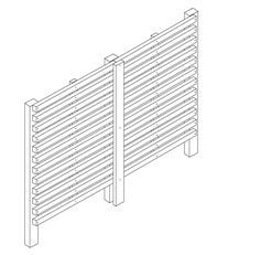 Instructions on how to build your own slatted fence http://www.silvatimber.co.uk/constructing-a-slatted-screen-fence
