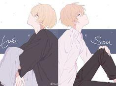 Eve&Sou Chica Anime Manga, Manga Boy, Kawaii Anime, Anime Guys, Anime Art, Vocaloid, Anime Style, Boy Illustration, Fan Art