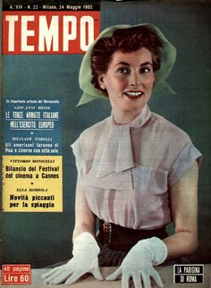 "French movie actress Myriam Bru: ""The Parisian of Rome"" (24th May 1952). Myriam Bru played almost exclusively in Italian movies."