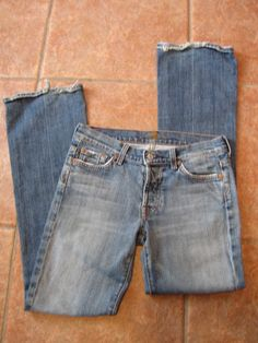 *Womens 7 for all mankind Jeans*Size 27*Button Fly*Boy Cut*Nice* #Jeans #Designer #Fashion