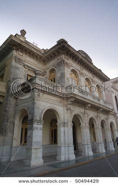 Classical Arquitecture surrounding The Central Park in Santa Clara