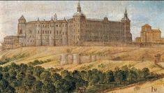 Real Alcazar de Madrid fachada meridional arquitecto Juan Gomez de la Mora