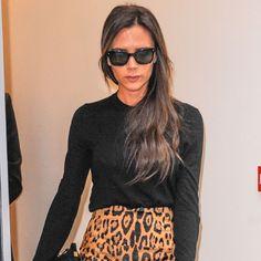 October 1, 2014 Who: Victoria Becham What: A leopard pencil skirt Balmain skirt 2,129$
