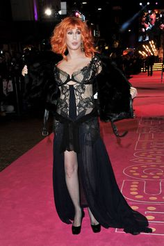 """Cher's Show-Stopping Style Redefines What It Means To Be 70 """"Cher"""" attend the """"Burlesque"""" UK premiere in London, England.. 2010"""