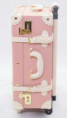 Like a princess ❤ 2013 Japanese LIZ LISA Fukubukuro handmade vintage trolley case suitcase luggage trolley bag Luggage Trolley, Trolley Case, Pink Love, Pretty In Pink, Tout Rose, Liz Lisa, Everything Pink, Cute Bags, Pink Aesthetic