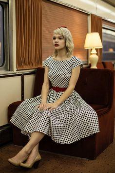 1950's style dress / MichelleTan via etsy