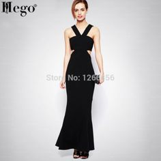 HEGO 2015 Women New Hot Waist Cut Out Brand Bandage Evening Dress Black Hot With Factory Direct H1186 Black Evening Dresses, Formal Dresses, Men's Swimsuits, Swimwear, New Model, Dress Black, One Piece, Black And White, Hot