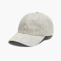 Baseball Cap in Railroad Stripe    c3bf080a202b