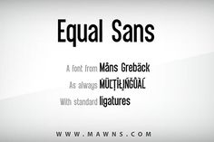 Equal Sans. Sans Serif Fonts. $59.00