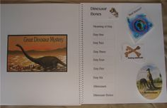 The Great Dinosaur Mystery Solved..  Lapbook ---  Marine Corps Nomands..