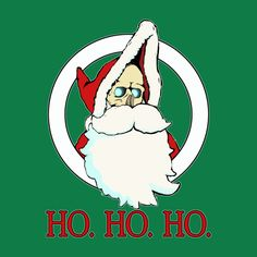 "Discworld -   ""HO. HO. HO.""  Happy Hogswatch!  Tee shirts available.  #Discworld, #Pratchett, #Death,"