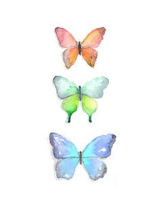 Watercolor Butterflies Print by Badger And Bee on Etsy, $15.00