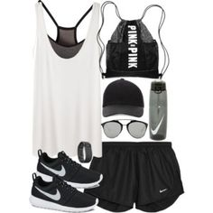 Outfit for the gym with Nike sneakers