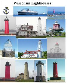 Wisconsin Lighthouses I plan to try to see all these on my bike an take photos of my journey..time will tell..