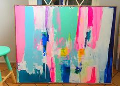 art abstracto Available Original Paintings / kirstenjackson Contemporary Abstract Art, Colorful Abstract Art, How To Abstract Paint, Contemporary Artists, Abstract Canvas Art, Abstract Portrait, Portrait Paintings, Painting Abstract, Art Mural